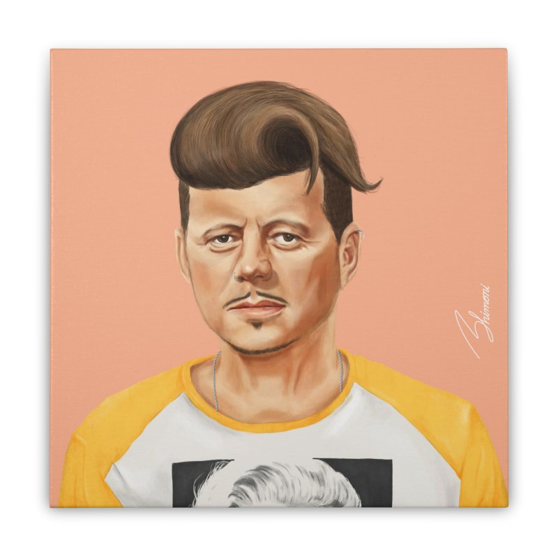 John F. Kennedy Home Stretched Canvas by shimoni's Artist Shop