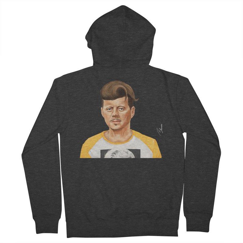John F. Kennedy Men's Zip-Up Hoody by shimoni's Artist Shop
