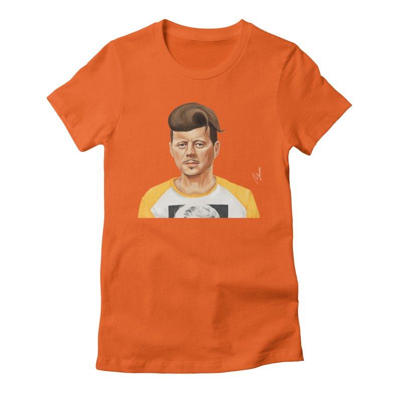John F. Kennedy Women's Fitted T-Shirt by shimoni's Artist Shop