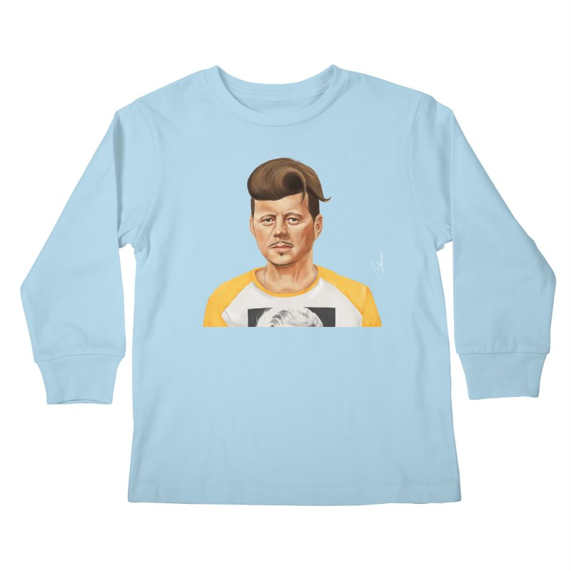 John F. Kennedy Kids Longsleeve T-Shirt by shimoni's Artist Shop