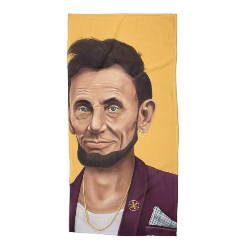 Abraham Lincoln Accessories Beach Towel by shimoni's Artist Shop