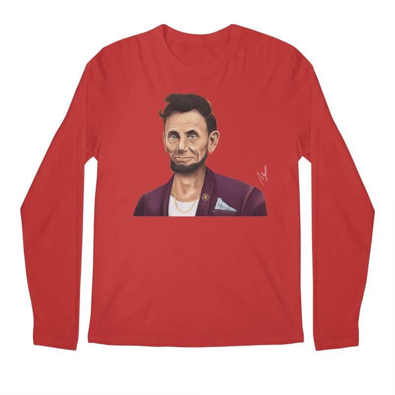 Abraham Lincoln Men's Longsleeve T-Shirt by shimoni's Artist Shop