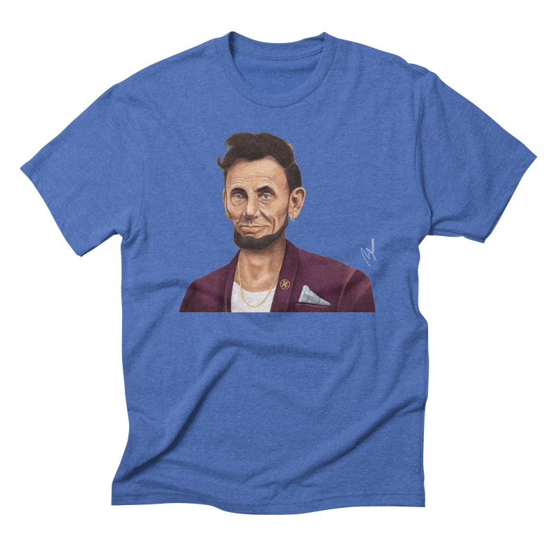 Abraham Lincoln Men's Triblend T-shirt by shimoni's Artist Shop