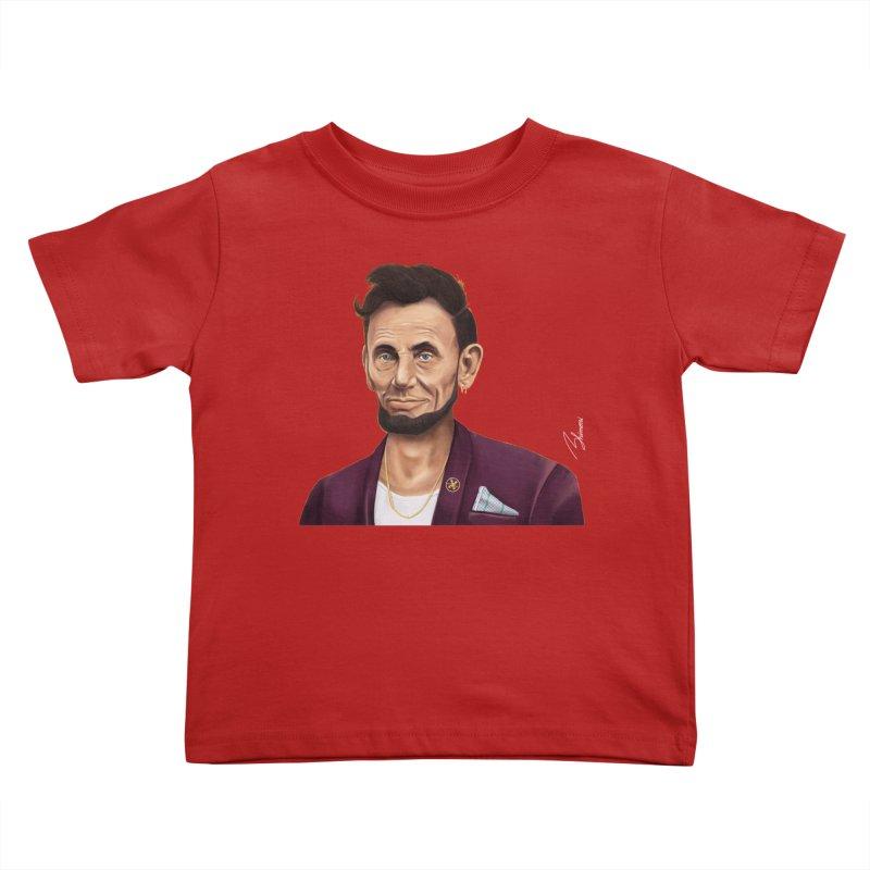 Abraham Lincoln Kids Toddler T-Shirt by shimoni's Artist Shop