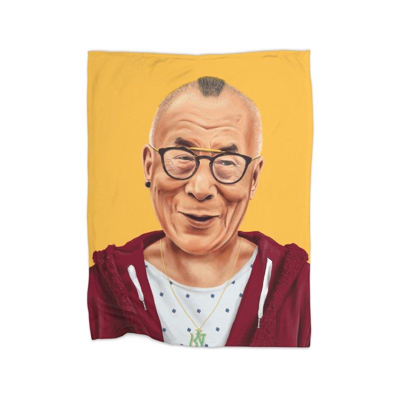 Dalai Lama Home Blanket by shimoni's Artist Shop