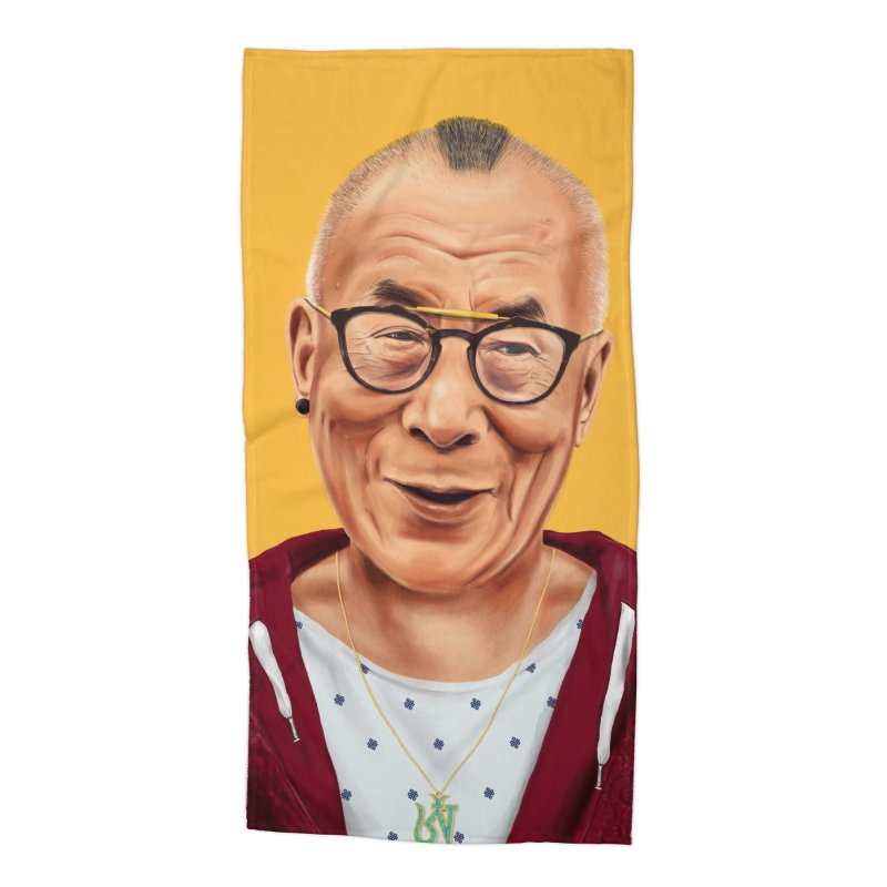 Dalai Lama Accessories Beach Towel by shimoni's Artist Shop