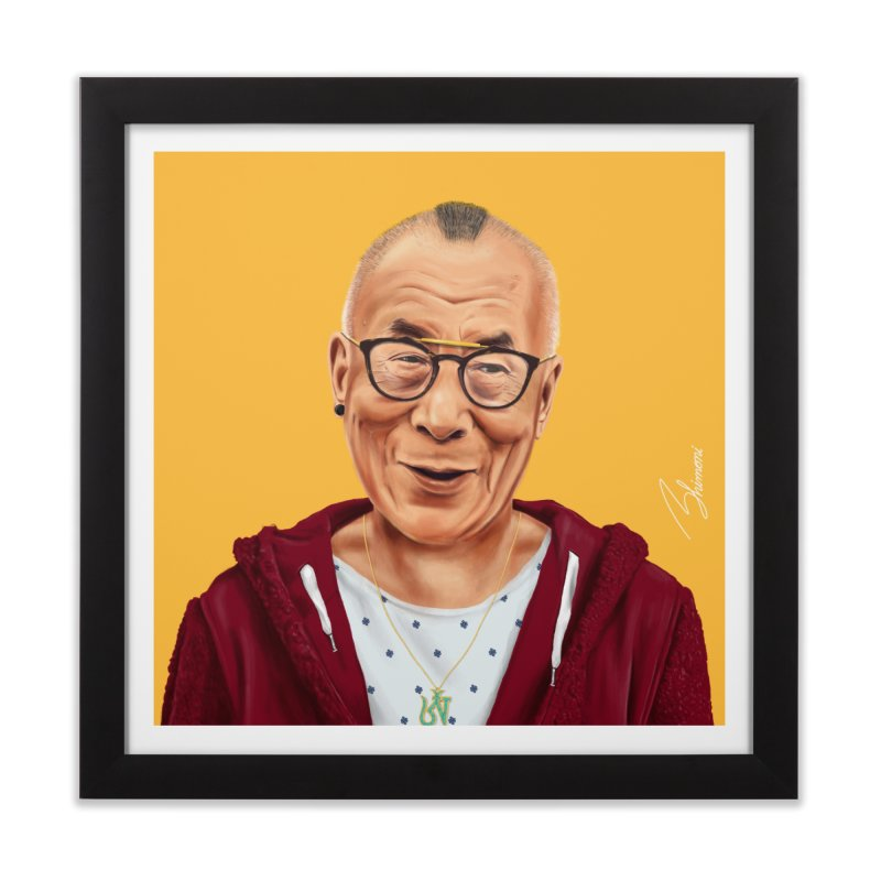 Dalai Lama Home Framed Fine Art Print by shimoni's Artist Shop