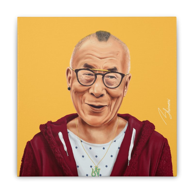 Dalai Lama Home Stretched Canvas by shimoni's Artist Shop
