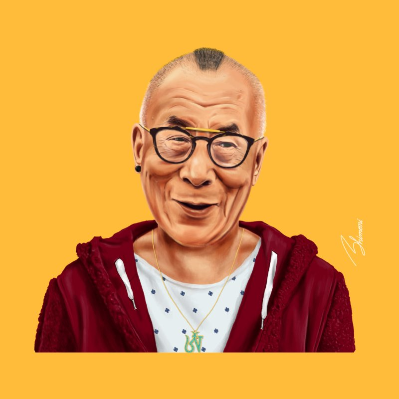 Dalai Lama Home Duvet by shimoni's Artist Shop
