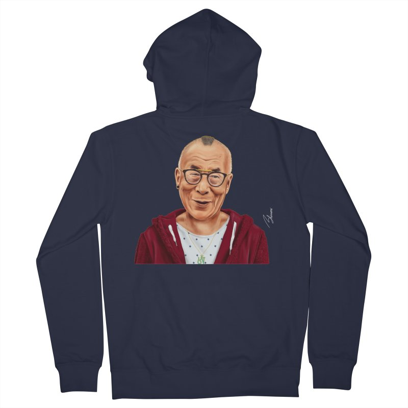 Dalai Lama Men's Zip-Up Hoody by shimoni's Artist Shop