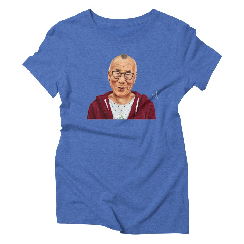 Dalai Lama Women's Triblend T-shirt by shimoni's Artist Shop