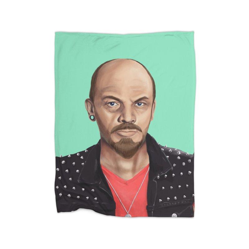 Vladimir Lenin Home Blanket by shimoni's Artist Shop