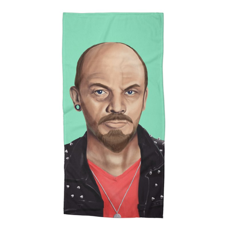 Vladimir Lenin Accessories Beach Towel by shimoni's Artist Shop