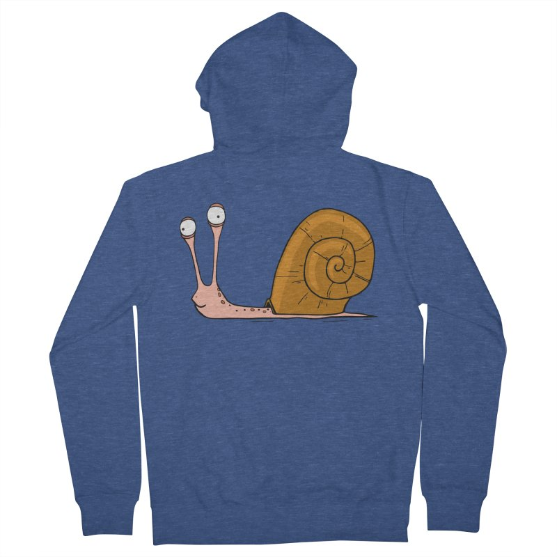 Funny snail Men's Zip-Up Hoody by shiningstar's Artist Shop
