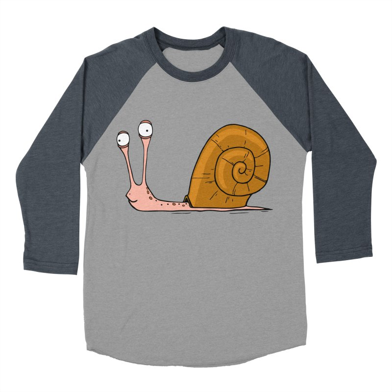 Funny snail Men's Baseball Triblend T-Shirt by shiningstar's Artist Shop