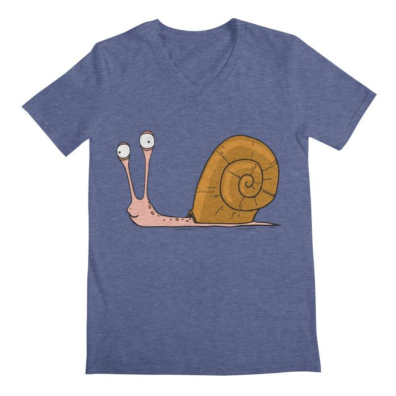 Funny snail Men's V-Neck by shiningstar's Artist Shop
