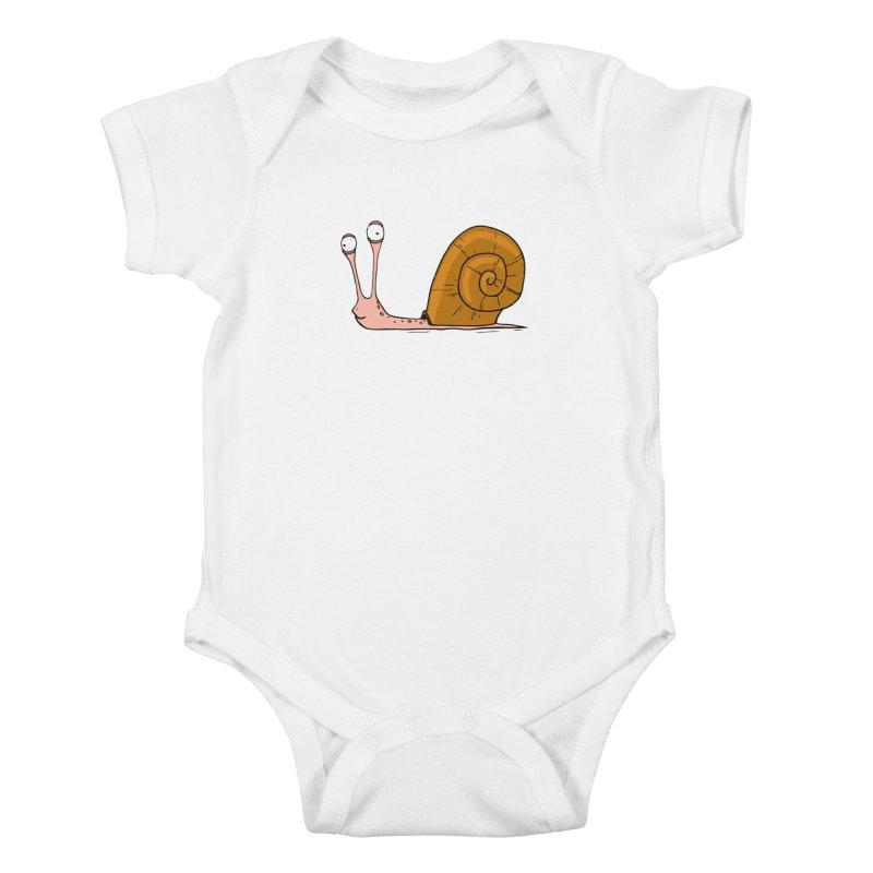 Funny snail Kids Baby Bodysuit by shiningstar's Artist Shop