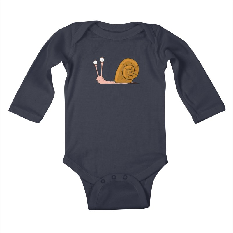 Funny snail Kids Baby Longsleeve Bodysuit by shiningstar's Artist Shop