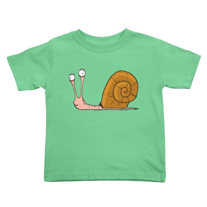 Funny snail Kids Toddler T-Shirt by shiningstar's Artist Shop