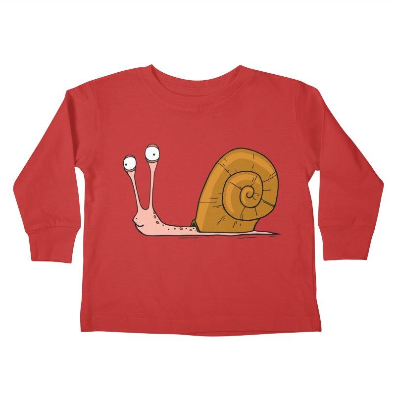 Funny snail Kids Toddler Longsleeve T-Shirt by shiningstar's Artist Shop