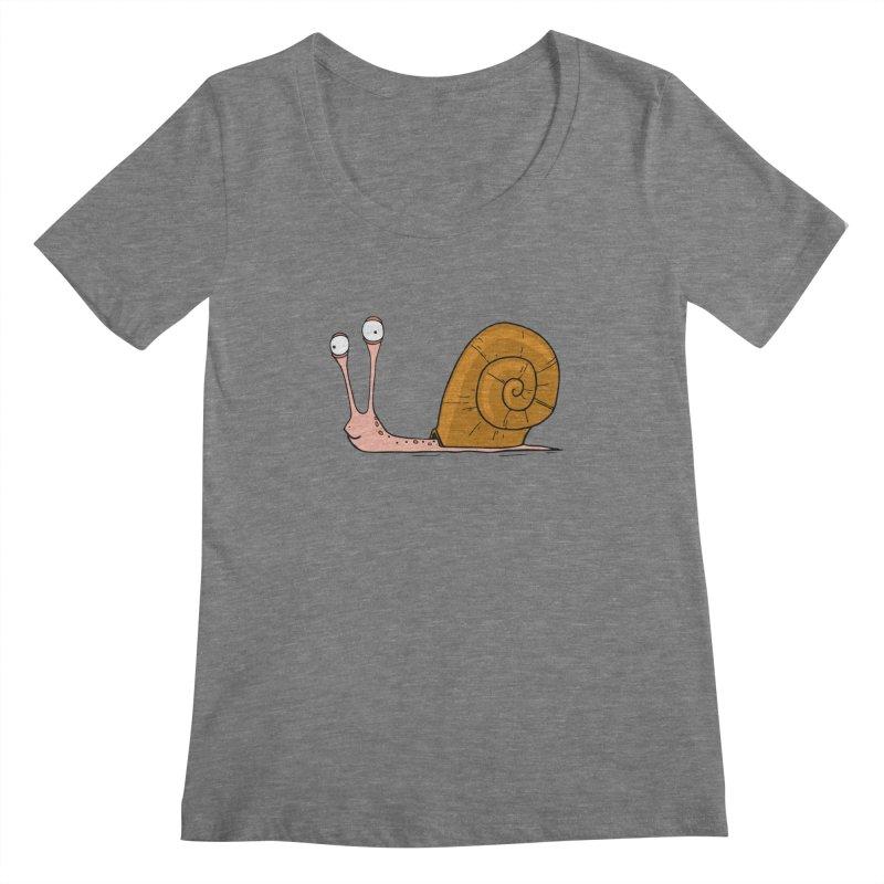 Funny snail Women's Scoopneck by shiningstar's Artist Shop