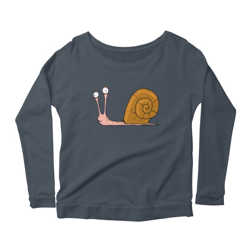 Funny snail Women's Longsleeve Scoopneck  by shiningstar's Artist Shop