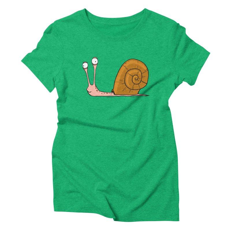 Funny snail Women's Triblend T-shirt by shiningstar's Artist Shop