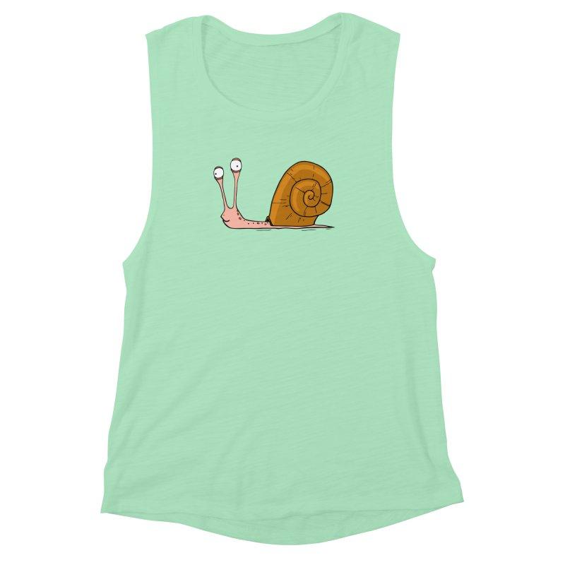 Funny snail Women's Muscle Tank by shiningstar's Artist Shop
