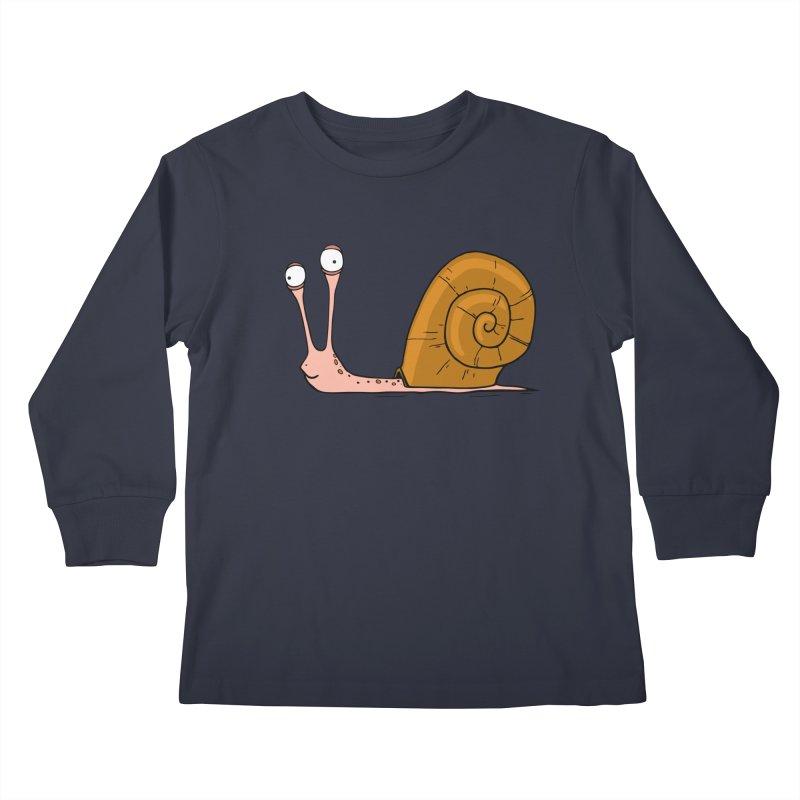 Funny snail Kids Longsleeve T-Shirt by shiningstar's Artist Shop