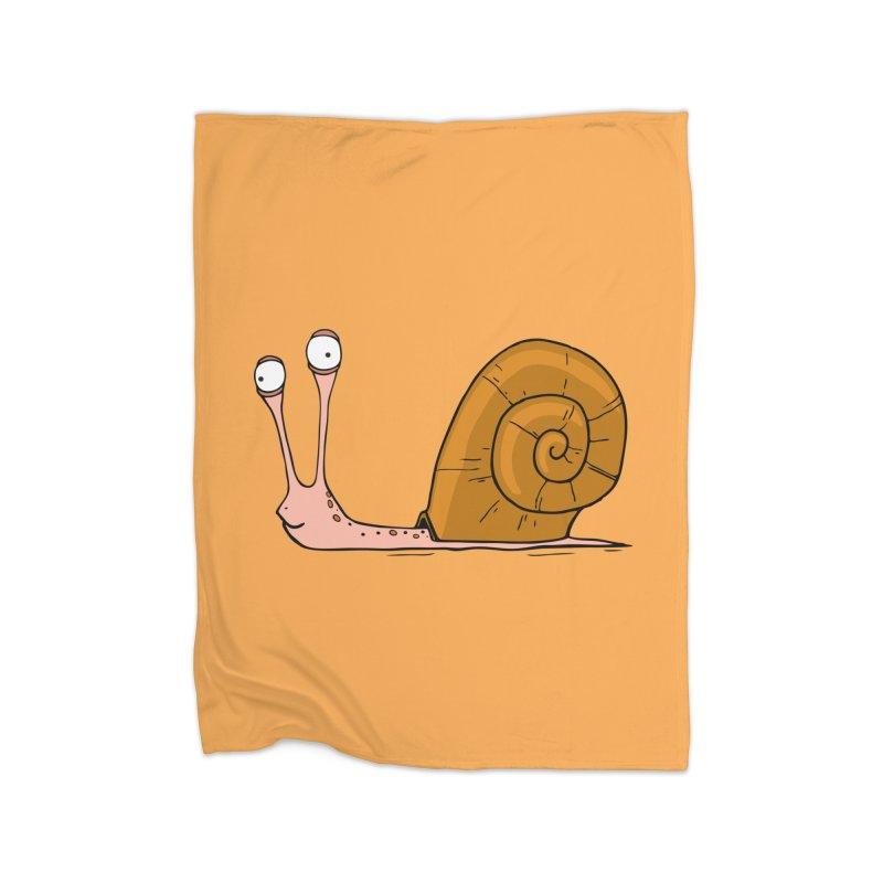 Funny snail Home Blanket by shiningstar's Artist Shop