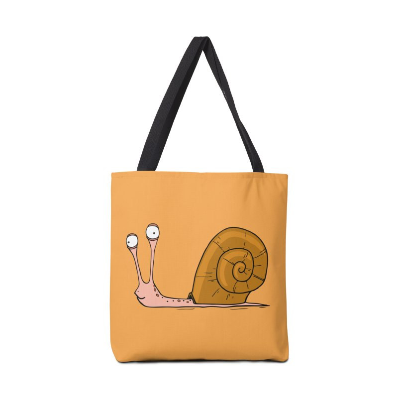 Funny snail Accessories Bag by shiningstar's Artist Shop