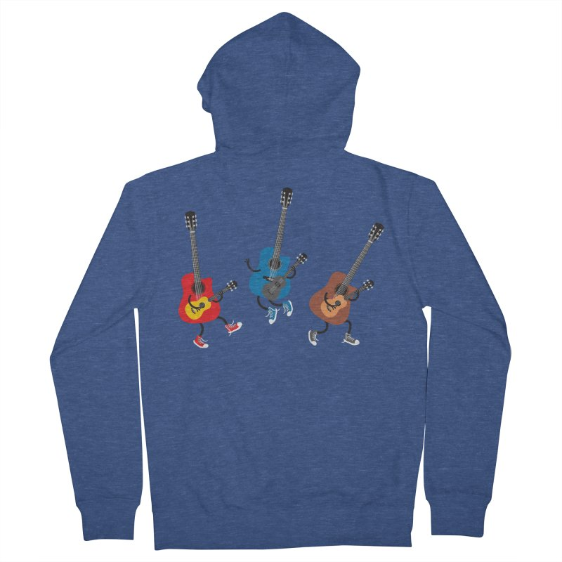 Dancing guitars Men's Zip-Up Hoody by shiningstar's Artist Shop