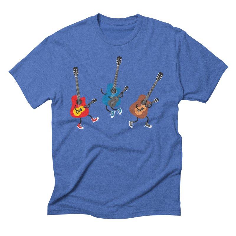 Dancing guitars Men's Triblend T-shirt by shiningstar's Artist Shop