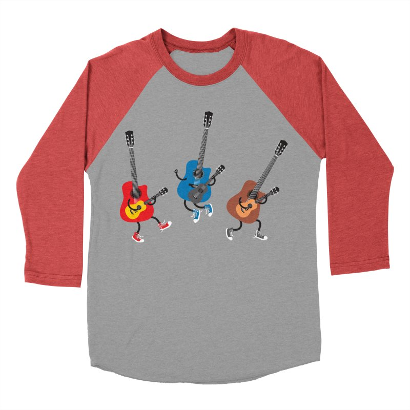 Dancing guitars Women's Baseball Triblend T-Shirt by shiningstar's Artist Shop