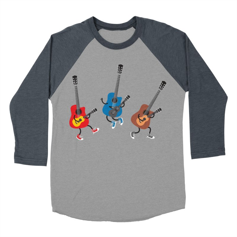 Dancing guitars Men's Baseball Triblend T-Shirt by shiningstar's Artist Shop