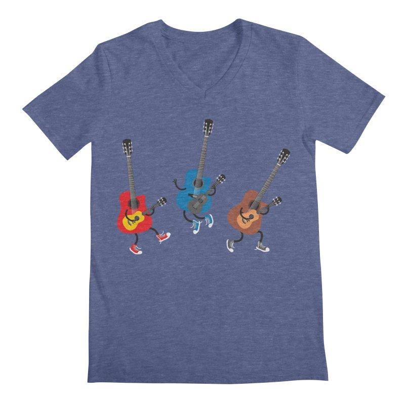 Dancing guitars Men's V-Neck by shiningstar's Artist Shop