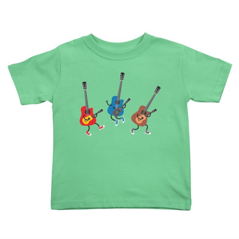 Dancing guitars Kids Toddler T-Shirt by shiningstar's Artist Shop