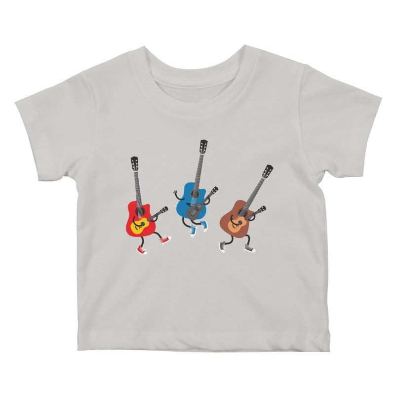 Dancing guitars Kids Baby T-Shirt by shiningstar's Artist Shop