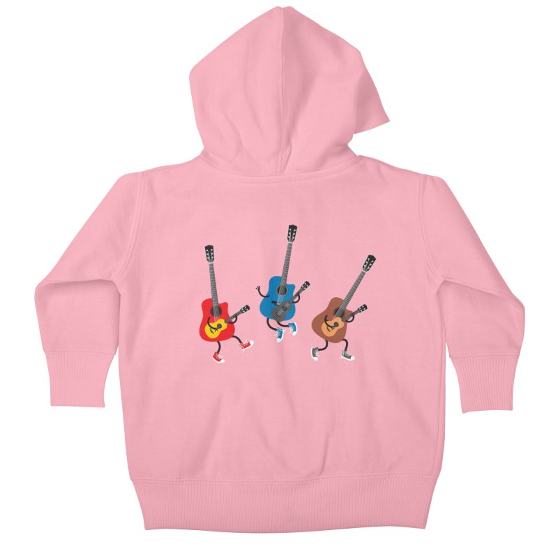 Dancing guitars Kids Baby Zip-Up Hoody by shiningstar's Artist Shop