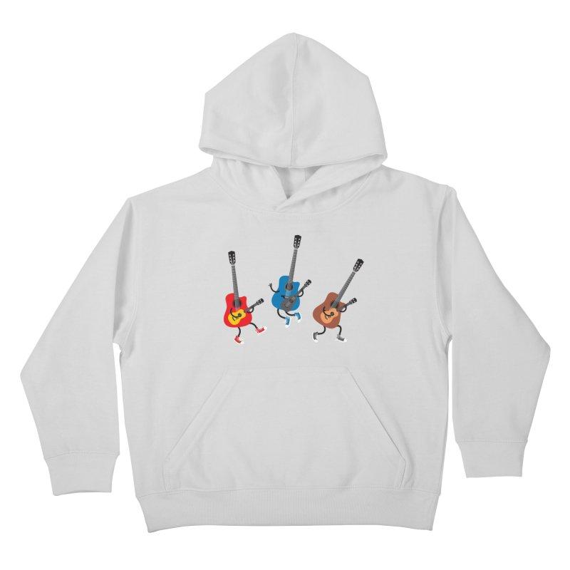 Dancing guitars Kids Pullover Hoody by shiningstar's Artist Shop
