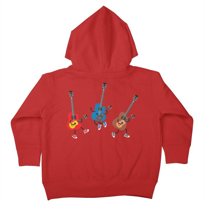 Dancing guitars Kids Toddler Zip-Up Hoody by shiningstar's Artist Shop