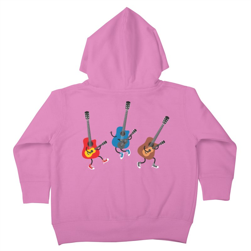 Dancing guitars Kids Toddler Zip-Up Hoody by shiningstar's Artist Shop