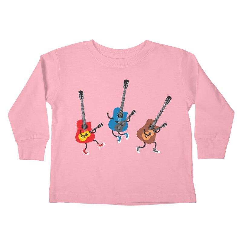 Dancing guitars Kids Toddler Longsleeve T-Shirt by shiningstar's Artist Shop