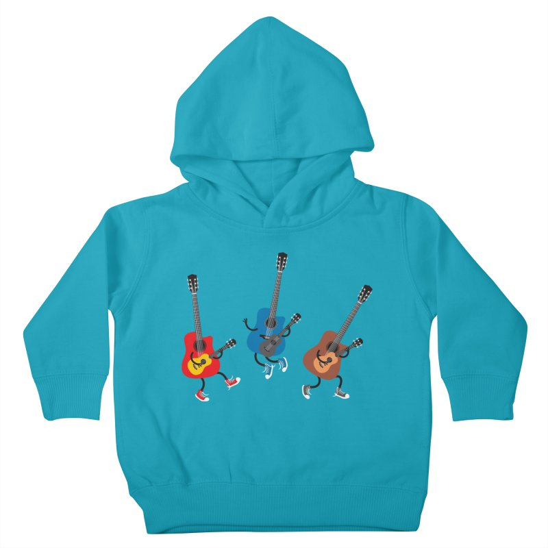 Dancing guitars Kids Toddler Pullover Hoody by shiningstar's Artist Shop