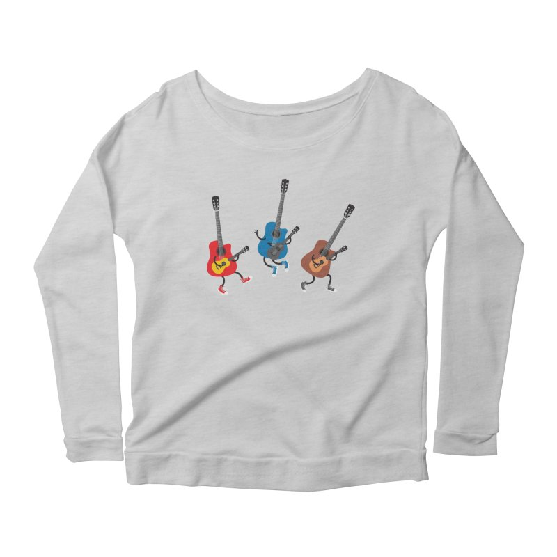 Dancing guitars Women's Longsleeve Scoopneck  by shiningstar's Artist Shop