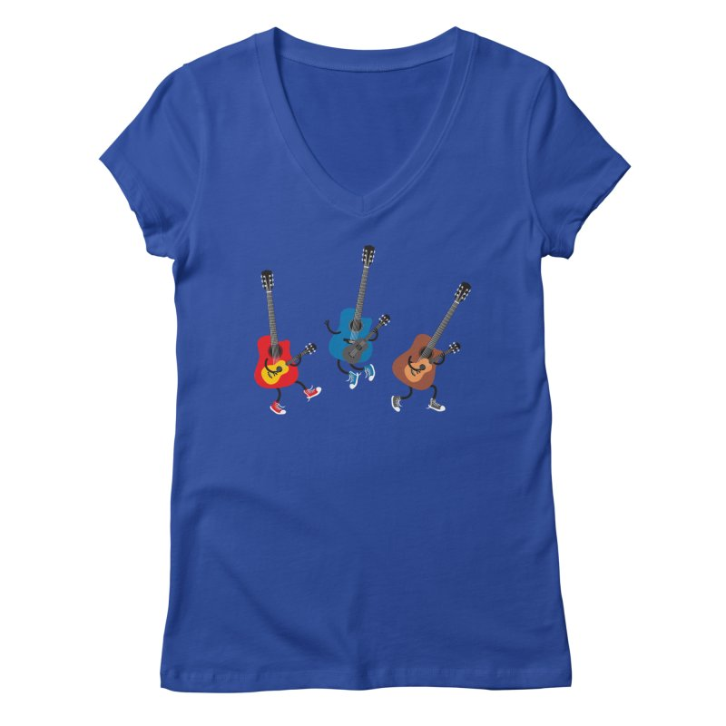 Dancing guitars Women's V-Neck by shiningstar's Artist Shop