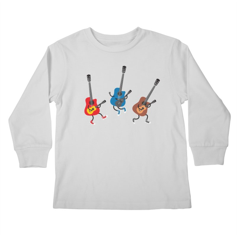Dancing guitars Kids Longsleeve T-Shirt by shiningstar's Artist Shop