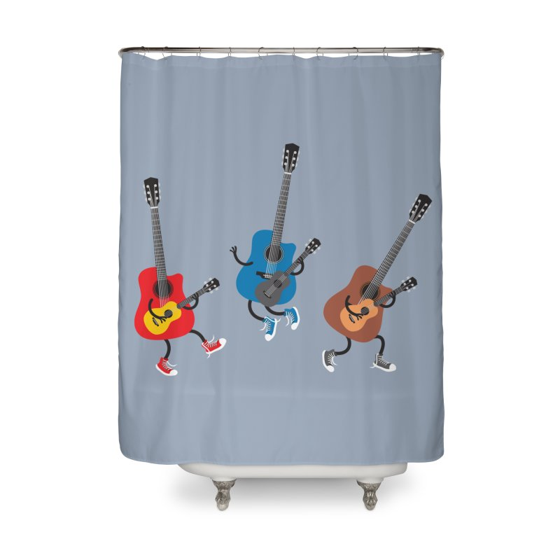 Dancing guitars Home Shower Curtain by shiningstar's Artist Shop
