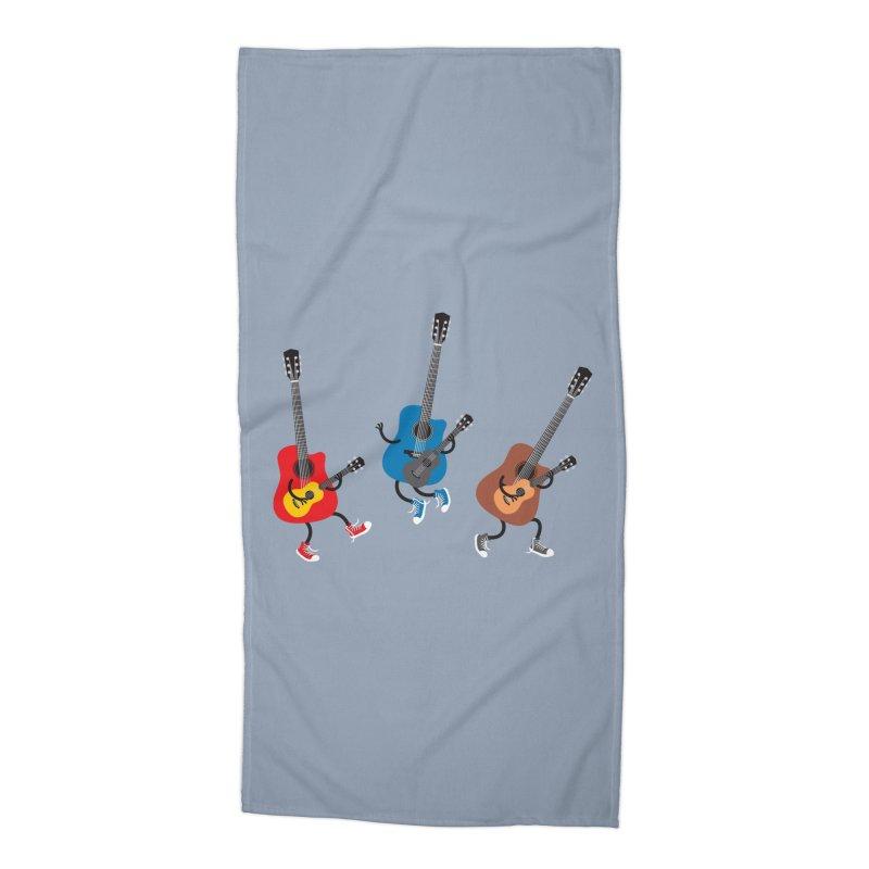 Dancing guitars Accessories Beach Towel by shiningstar's Artist Shop