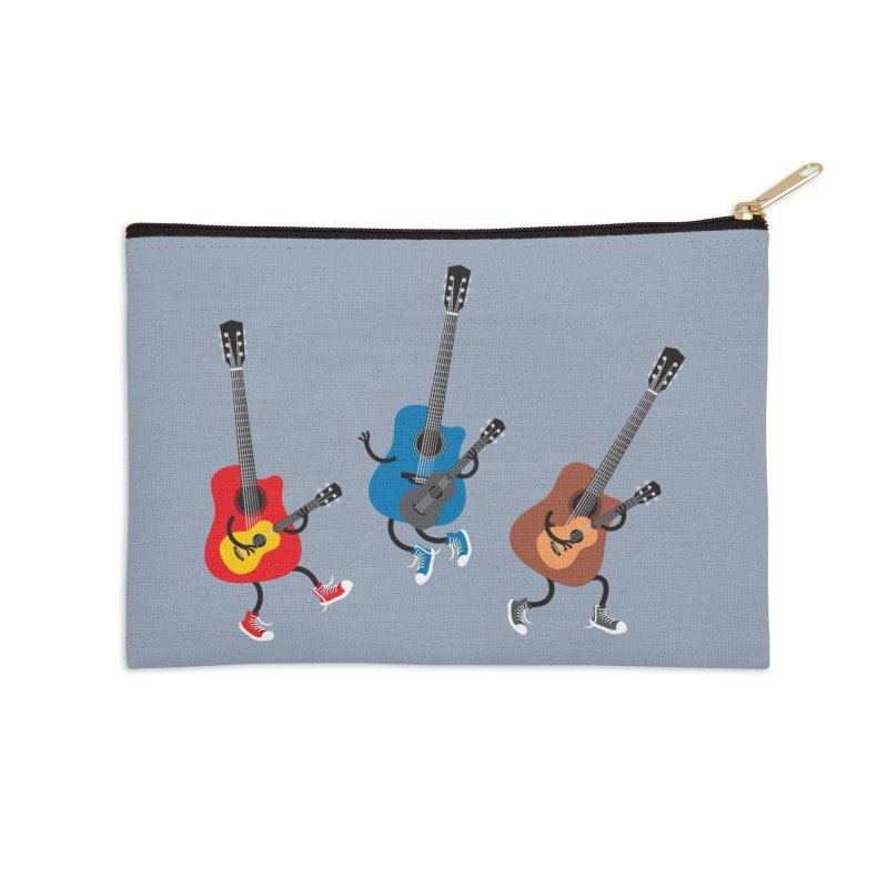 Dancing guitars Accessories Zip Pouch by shiningstar's Artist Shop